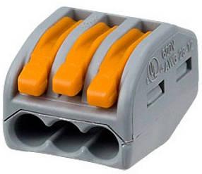 Строительные клеммы WAGO 222-413 для быстрого монтажа