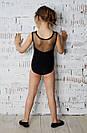 Купальник для танцев и гимнастики из бифлекса черный, фото 2