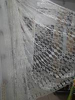 Тюль вышивка на микросетке Кордовая нить