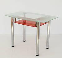 """Стол обеденный стеклянный на хромированных ножках Maxi  DT D2 1000/600 """"рамка"""" стекло, хром, фото 1"""