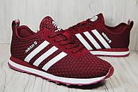 Adidas(адидас) бордовые лёгкие кроссовки унисекс, фото 1