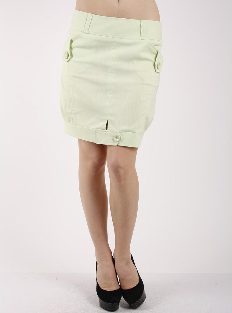 Юбка женская-бочонок молодежная салатовая Ю65