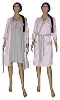 Комплект пеньюар 18017 Amarilis Roze, ночная рубашка и халат, р.р.42-56 42