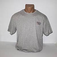 Мужская серая стрейчевая футболка большого размера Lycra пр-во Турция 4078