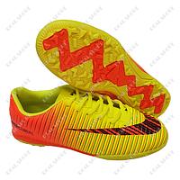Детская футбольная обувь сороконожки Nike Mercurial CR7 Yellow FB180022 (р-р 31-36, желто-оранжевый)