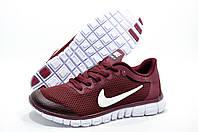Женские кроссовки в стиле Найк Free Run 3.0, Бордовые