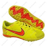 Детская футбольная обувь сороконожки Nike Mercurial X Yellow, р. 31-36