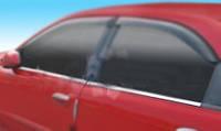 Chevrolet Lanos Окантовка окон с нержавейки