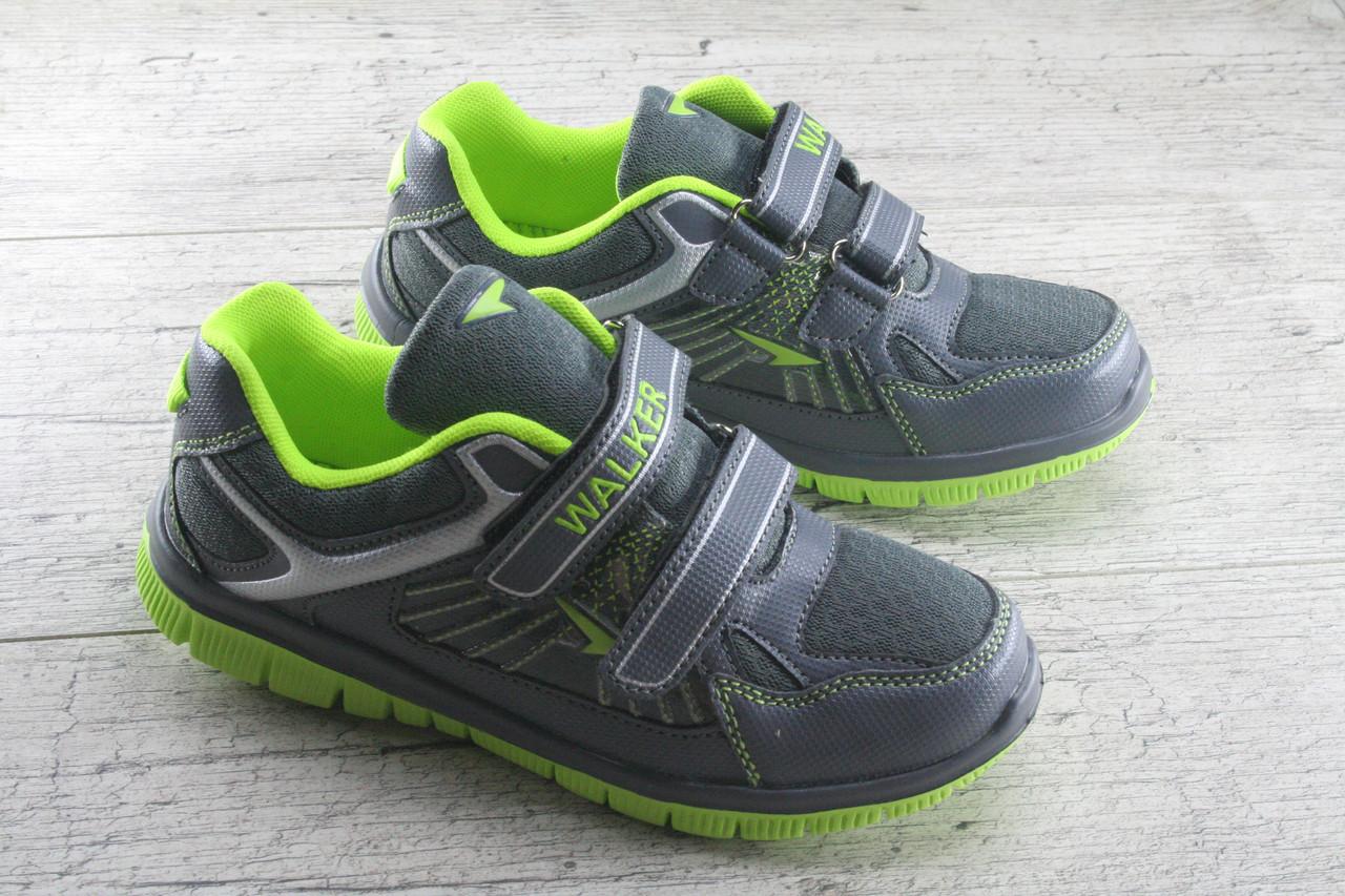 Кроссовки, мокасины подростковые на липучке Walker, обувь детская, спортивная, повседневная, микс цветов