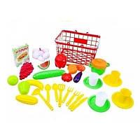"""Корзина """"Пикник"""" малая с продуктами и овощами 379-4 Орион"""