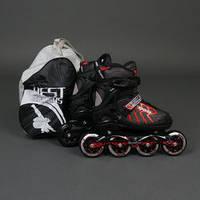""".Ролики 9015 """"L"""" Red - Best Rollers /размер 39-42/ (6) колёса PU, без света, d=9см , фото 1"""