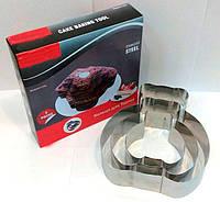"""Кольцо для выпечки """"Медведь"""",  резак для торта, нержавеющая сталь, 3 шт в наборе"""