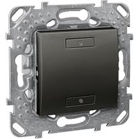 Выключатель 2-кнопочный для подкл. в шину KNX с подсветкой Графит Unica Schneider, MGU5.530.12