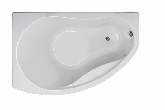 PROMISE ванна асимметричная 150*100 см, левая, белая, с ножками SN7