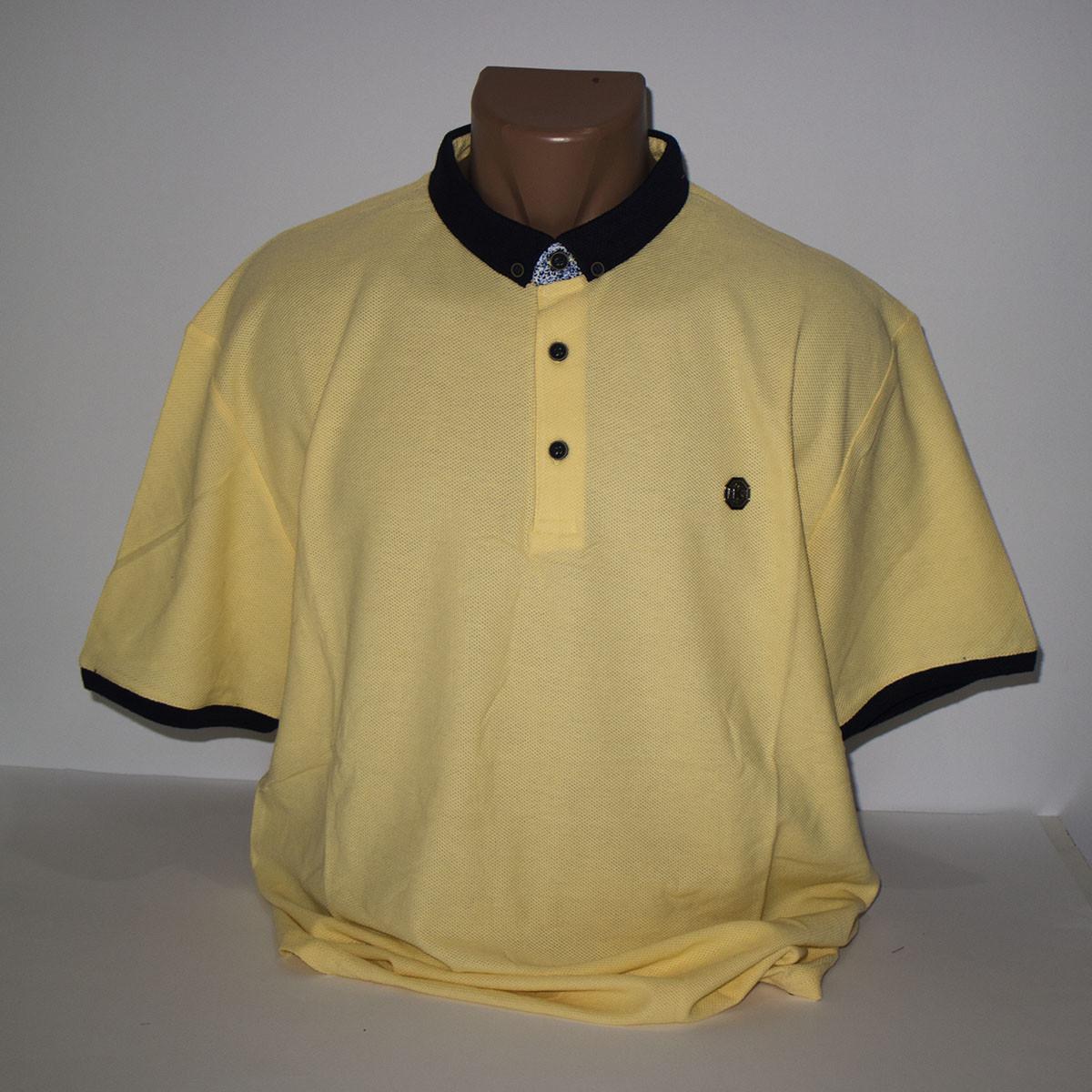 Чоловіча жовта Супербатальная футболка лакоста пр-під Туреччина N7086G