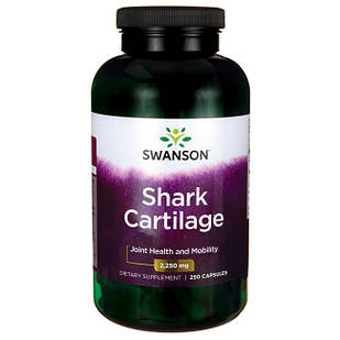 Swanson Shark Cartilage Акулий хрящ  750 мг 250 капс