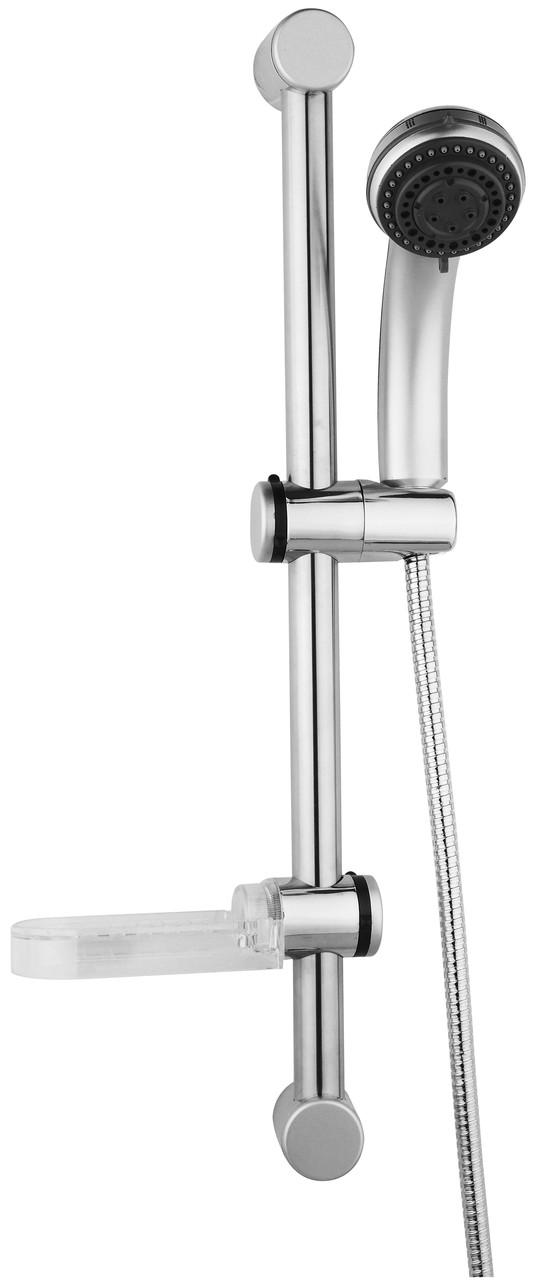 Штанга душевая L-64 см, мыльница, Душ ручной 3 режима, шланг, блистер