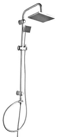 Система душевая, L-97 sm, верхний душ 20*20 см, душ ручной 1 режим, шланг 2 шт, картон, фото 2