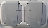 Розетка двойная с заземлением с защитными шторками наружная серый Viko Palmiye