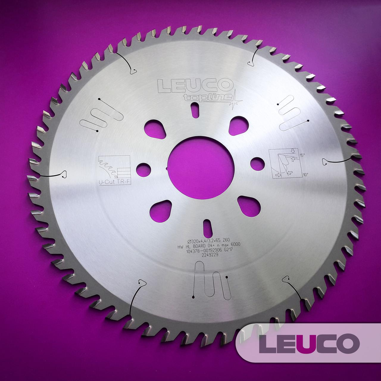 Основная дисковая пила Leuco для пильных центров, 320x4,4/3,2x65 Z=60