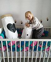 Бортик - коса в детскую кроватку Холлофайбер, 240/20 см