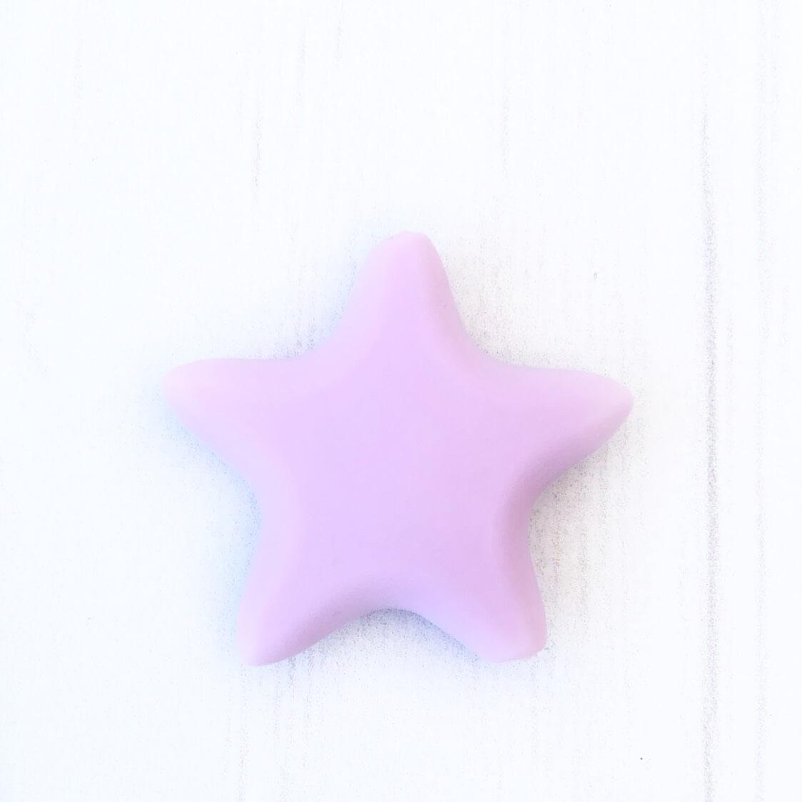 Звезда острокон. (лаванда), бусины из пищевого силикона