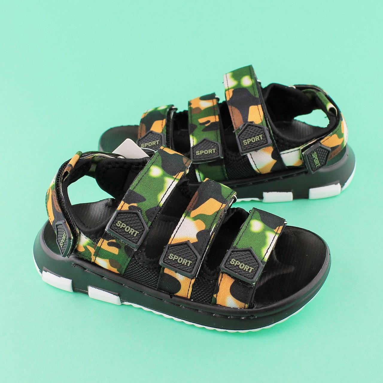 9198e743d Сандалии детские Камуфляж для мальчиков Том.М размер 26 - BonKids - детский  магазин обуви
