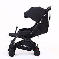 Yoya Care 2018 Black Черная Прогулочная детская коляска-трансформер 2 в 1 Алюминиевая