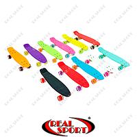 Скейтборд пластиковый Penny Led Wheels SK-5672 (22in, однотонная дека, светящиеся колеса, цвет в ассорт.)