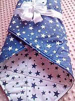 Конверт-ковдра на виписку. Плед дитячий. Ексклюзивний дизайн. Одеяло-конверт на выписку, фото 1