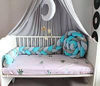 Бортик - коса в детскую кроватку Холлофайбер, 240/15 см