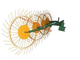 Грабли-ворошилки (Солнышко) толщина граблинной проволоки 4,0 мм на 4 колеса Агромарка