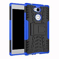 Чехол Sony L2 / H4311 / H3311 / H3321 / H4331 противоударный бампер синий
