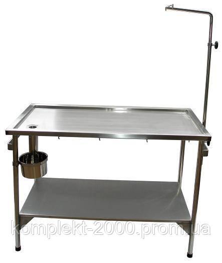 ветеринарный хирургический столик из нержавейки
