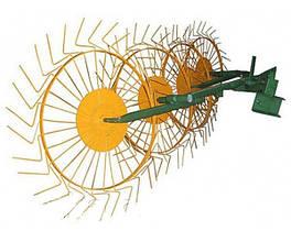 Грабли-ворошилки (Солнышко) толщина граблинной проволоки 5,0 мм на 4 колеса Агромарка