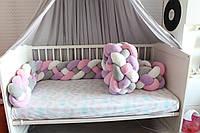 Бортик - коса в детскую кроватку Холлофайбер, 360/20 см