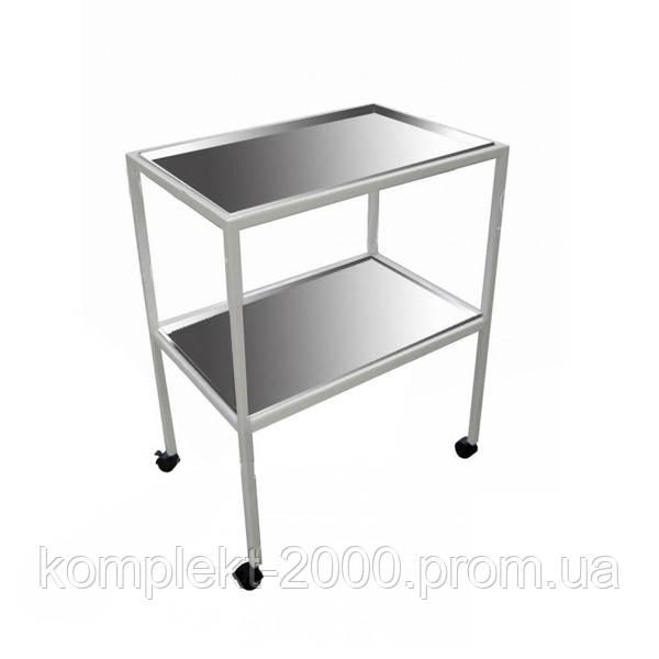 металлический инструментальный столик для медицины