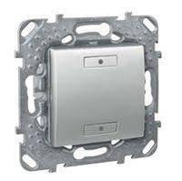 Выключатель 2-кнопочный для подкл. в шину KNX с инд. Алюминий Unica Schneider, MGU5.530.30
