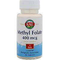 KAL, Метил фолат, 400 мкг, 90 таблеток