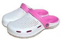 Тапочки женские сабо ЕВА FX Shoes белые , фото 1