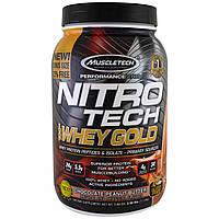 Muscletech, Сывороточный протеин Nitro Tech, 100% Whey Gold, со вкусом шоколадного арахисового масла, 2,50 фунта (1,13 кг)