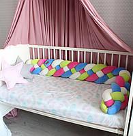 Бортик - коса в детскую кроватку Холлофайбер, 180/20 см