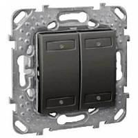 Выключатель 4-кнопочный для подкл. в шину KNX с инд. Графит Unica Schneider, MGU5.531.12