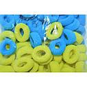 Резинка Калуш малая 100 шт/уп желто-голубая, фото 3