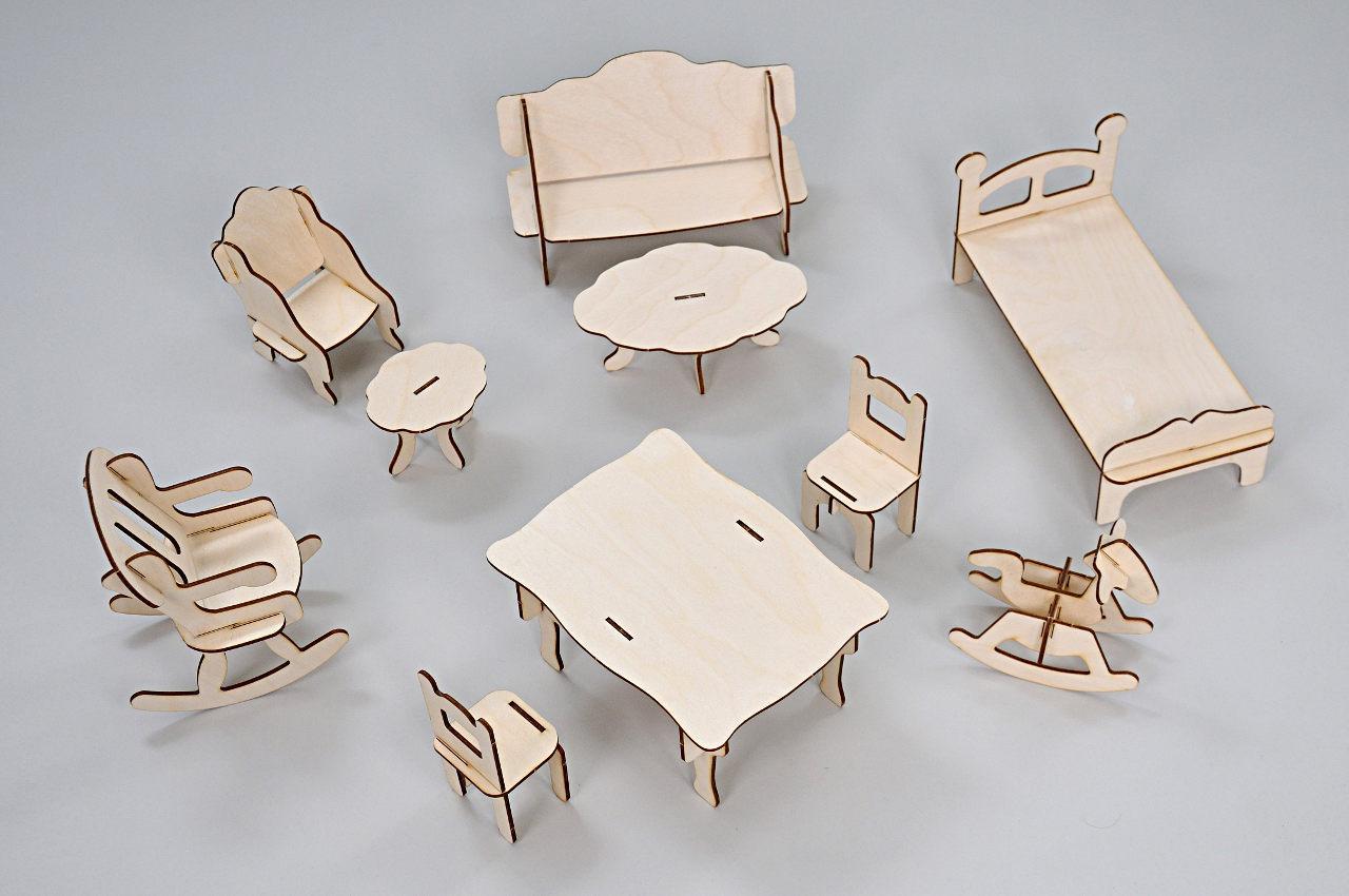Набор мебели FANA для кукол 10 предметов (3015)