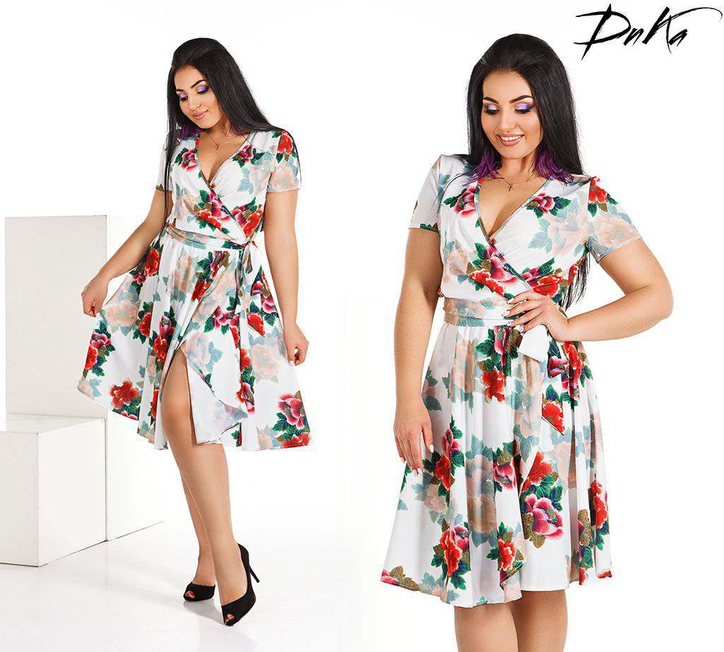 Платье в цветок на запах