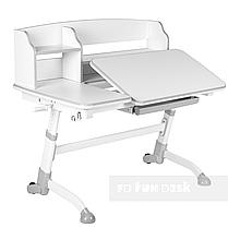 Комплект подростковая парта для школы Amare II Grey + ортопедическое кресло LST2 Grey FunDesk , фото 2