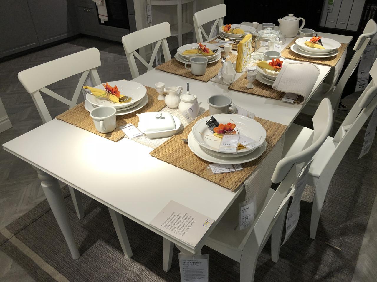 набор мебели прямоугольный стол 4 стулья икеа Ikea продажа