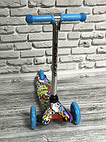 """Самокат MINI """"Scooter""""( 6) 3 колеса свет, PU, трубка руля алюминиевая., фото 1"""