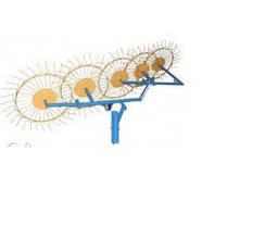 Грабли-ворошилки 5-ти колесные (Солнышко) толщина граблинной проволоки 5,0 мм Агромарка